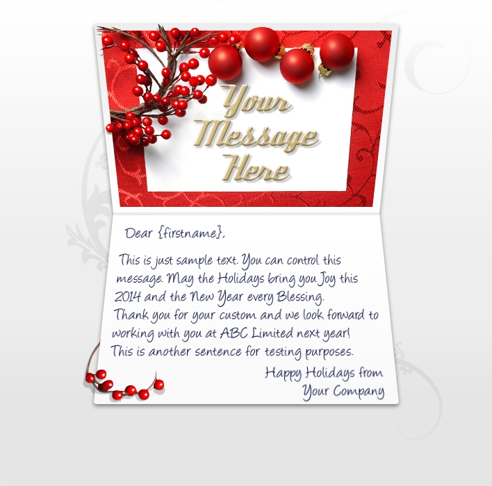 Business Greeting Christmas Cards