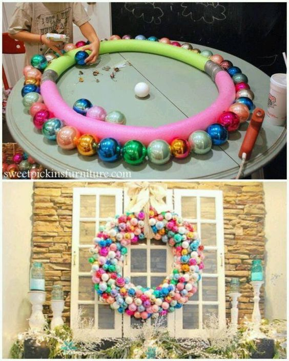 Christmas decorations with window spheres