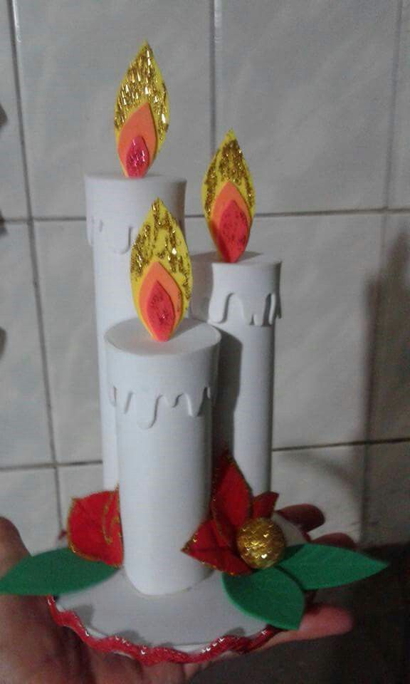 small christmas foami candles