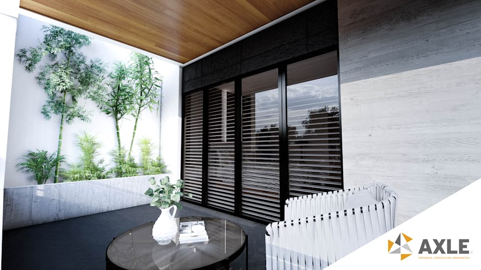 Project for a modern style contemporary balcony residence