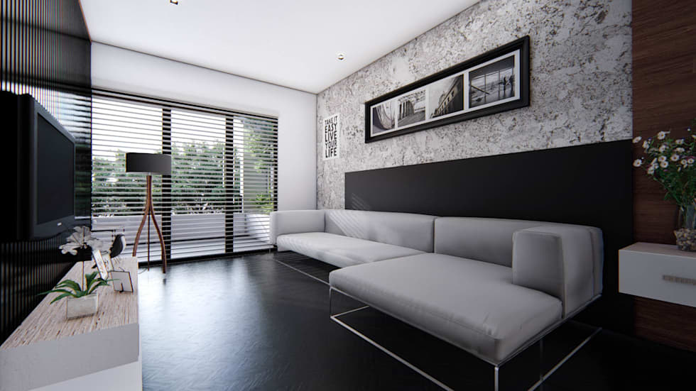 Project for a contemporary modern style residence main room