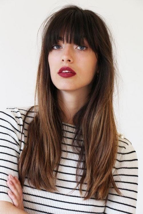 Haircuts to refine your face - straight with bangs