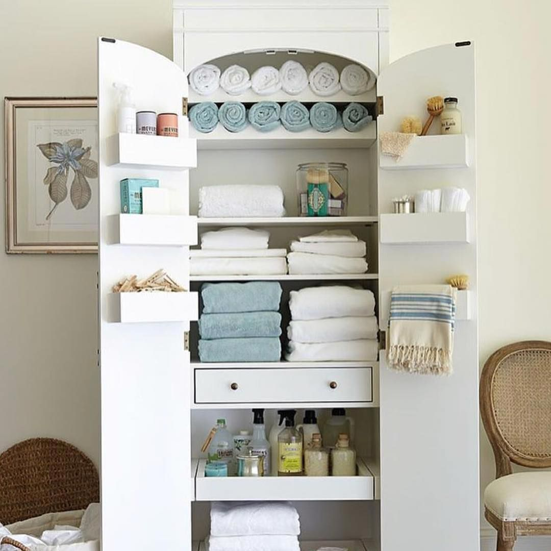 Ideas for organizing personal hygiene and cleaning products