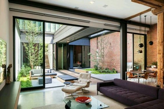 Open concept rooms connected to the garden